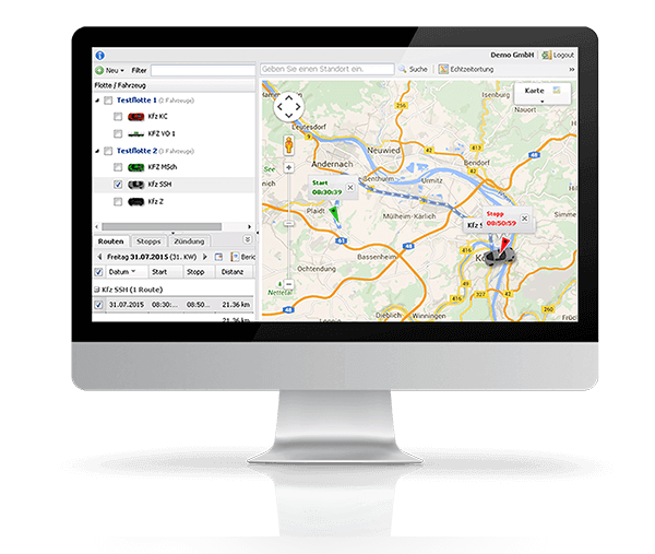 GPS Fahrzeugortung