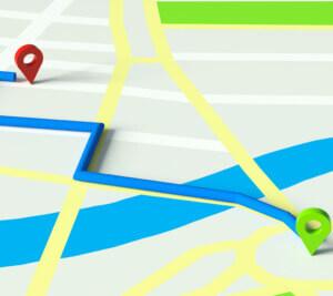 Routenplaner mit GPS Fahrzeugüberwachung